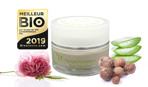 Masque Gommant Purifiant Rose Aloe Vera